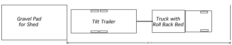Site Prep Drawing with Tilt Trailer